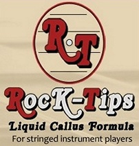 Rock-Tips is a specially formulated, non-toxic application for use in protecting sensitive fingertips while playing a guitar, bass or other stringed instrument...?