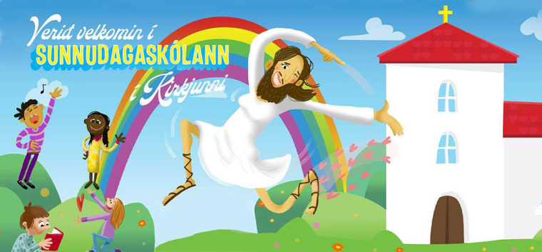 Church of Iceland graphic showing Jesus as trans
