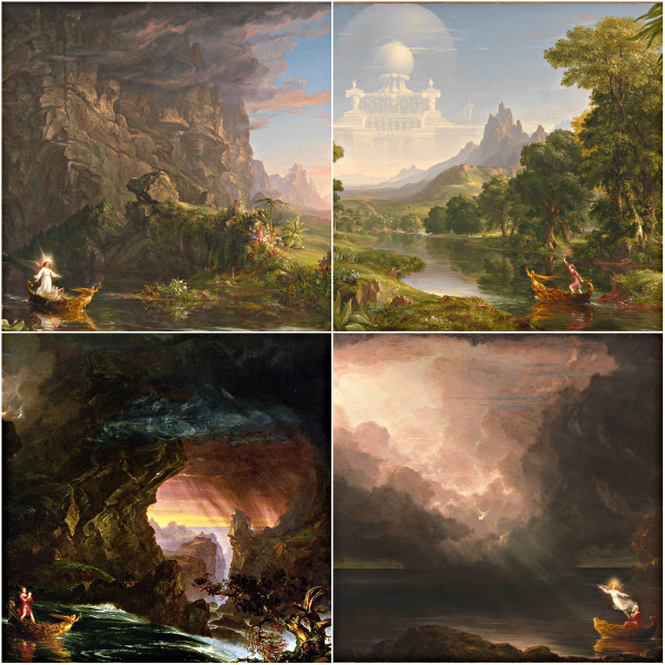 Thomas Cole The Voyage of Life series