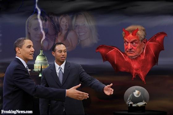 Obama, Woods, Soros