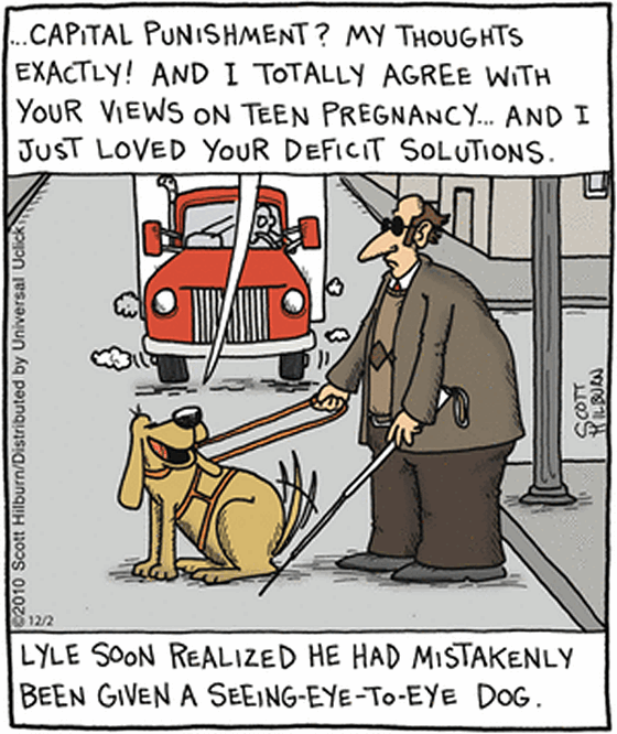 Eye to eye Dog Cartoon