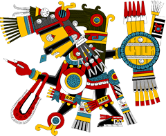 Tezcatlipoca - a deity central to the Aztec religion, and whose name translates to &apos;Smoking Mirror&apos;...